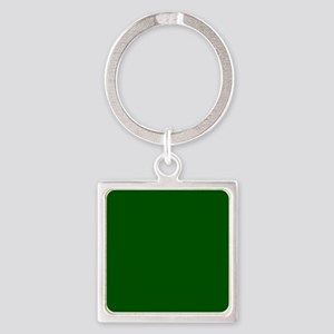 Dark green solid color Keychains