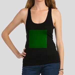 Dark green solid color Racerback Tank Top
