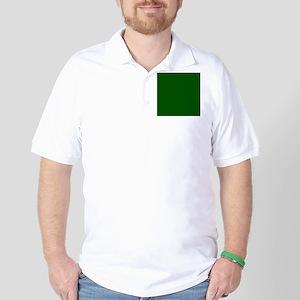 Dark green solid color Golf Shirt
