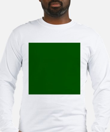 Dark green solid color Long Sleeve T-Shirt