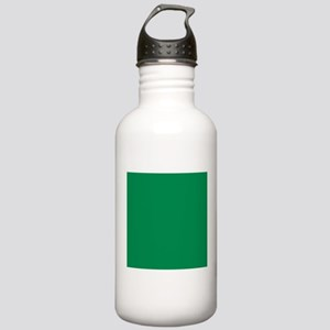 Green solid color Sports Water Bottle