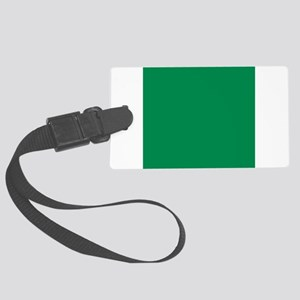 Green solid color Large Luggage Tag
