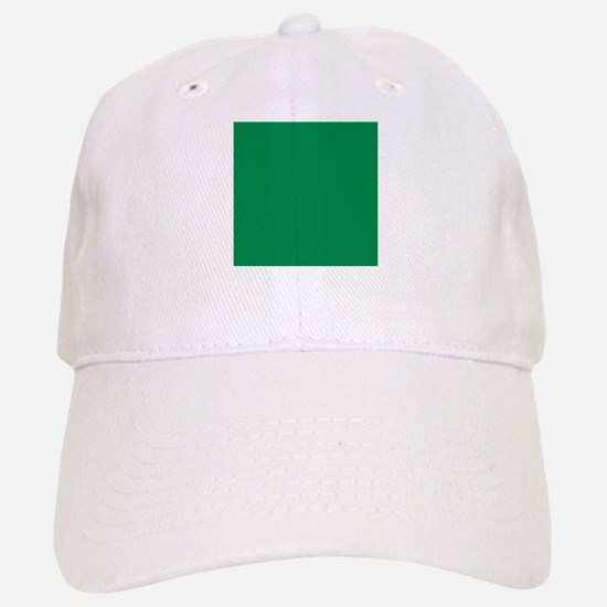 Green solid color Baseball Baseball Cap