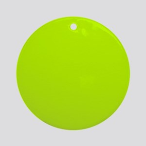 Lime Green solid color Ornament (Round)