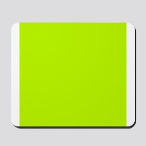 Lime Green solid color Mousepad
