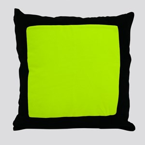 Lime Green solid color Throw Pillow