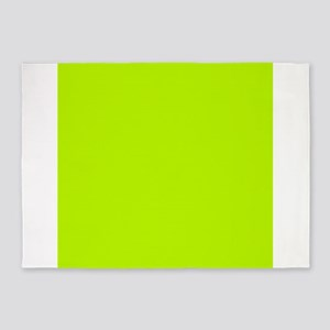 Lime Green solid color 5'x7'Area Rug