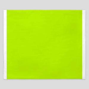 Lime Green solid color King Duvet