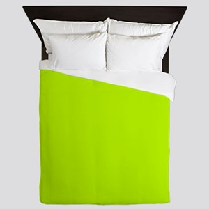Lime Green solid color Queen Duvet