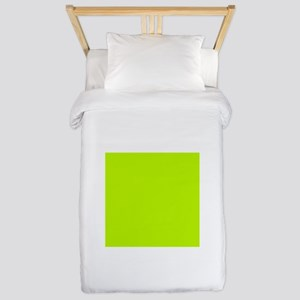 Lime Green solid color Twin Duvet