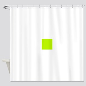Lime Green Solid Color Shower Curtain