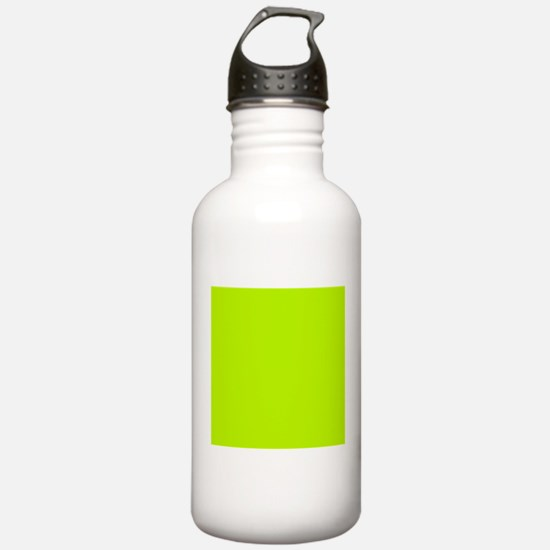 Lime Green solid color Sports Water Bottle