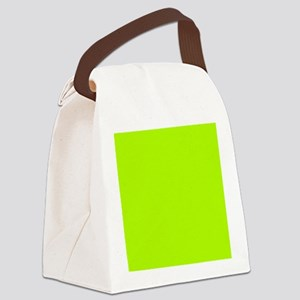 Lime Green solid color Canvas Lunch Bag