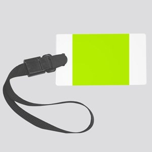 Lime Green solid color Large Luggage Tag