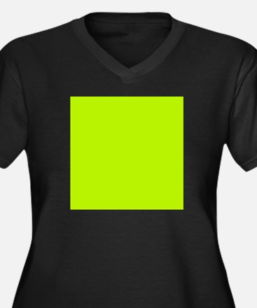 Lime Green solid color Plus Size T-Shirt
