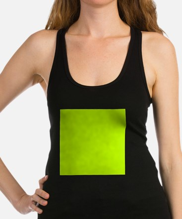 Lime Green solid color Racerback Tank Top