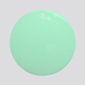 Mint Green solid color Ornament (Round)