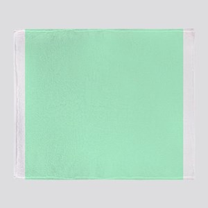 Mint Green solid color Throw Blanket