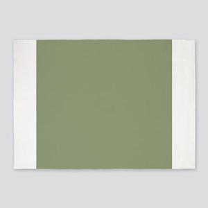 Moss Green solid color 5'x7'Area Rug