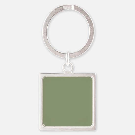 Moss Green solid color Keychains