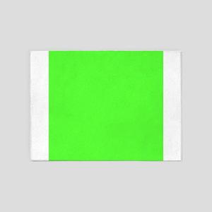 Neon Green solid color 5'x7'Area Rug