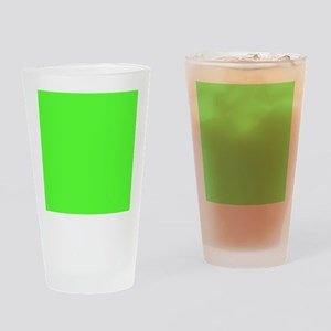 Neon Green solid color Drinking Glass