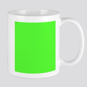 Neon Green solid color Mugs