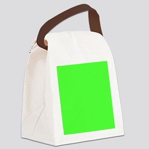 Neon Green solid color Canvas Lunch Bag