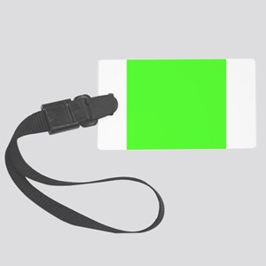 Neon Green solid color Large Luggage Tag