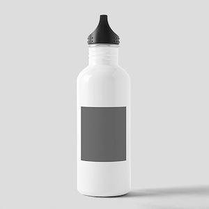 Dark Grey Solid Color Sports Water Bottle