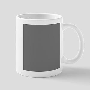 Dark Grey Solid Color Mugs