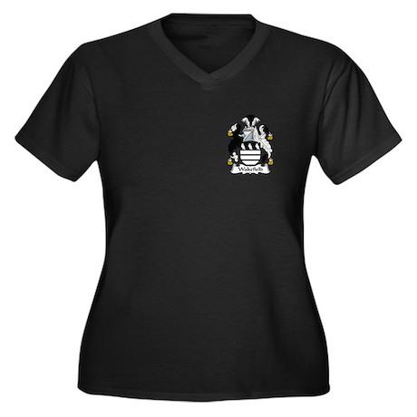 Wakefield Women's Plus Size V-Neck Dark T-Shirt