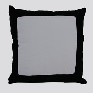 Grey Solid Color Throw Pillow