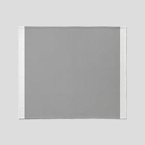 Grey Solid Color Throw Blanket
