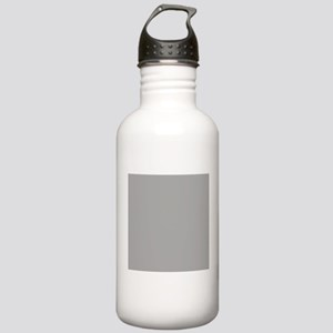 Grey Solid Color Sports Water Bottle
