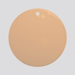 Apricot Solid Color Ornament (Round)