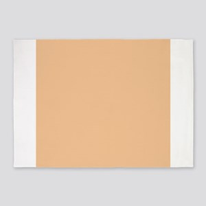 Apricot Solid Color 5'x7'Area Rug