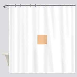 Apricot Solid Color Shower Curtain