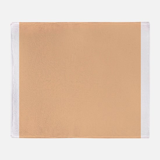 Apricot Solid Color Throw Blanket