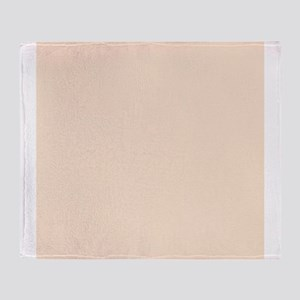 Peach Solid Color Throw Blanket