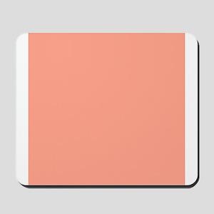 Coral Orange Solid Color Mousepad