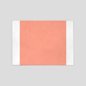 Coral Orange Solid Color 5'x7'Area Rug