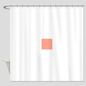 Coral Orange Solid Color Shower Curtain