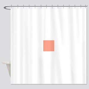 Coral Orange Solid Color Shower Curtain