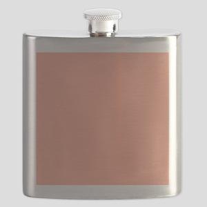 Coral Orange Solid Color Flask