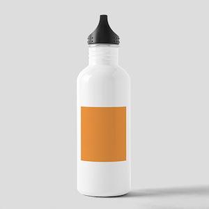 Orange Solid Color Sports Water Bottle
