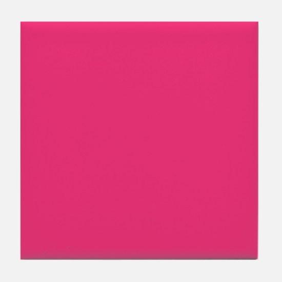 Hot Pink Solid Color Tile Coaster
