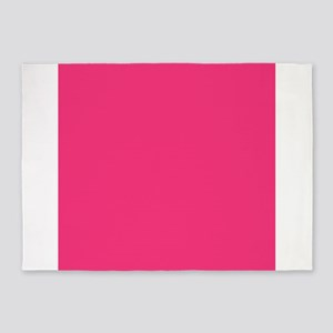 Hot Pink Solid Color 5'x7'Area Rug