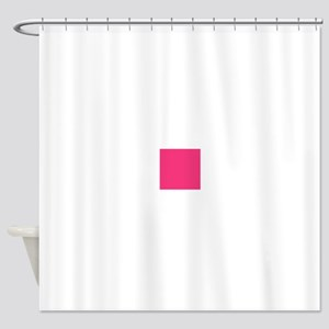 Hot Pink Solid Color Shower Curtain
