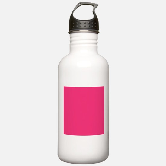 Hot Pink Solid Color Sports Water Bottle